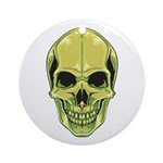 Green Skull Round Ornament (Round)
