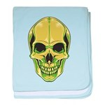 Green Skull Infant Blanket