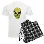 Green Skull Men's Light Pajamas