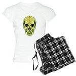 Green Skull Women's Light Pajamas