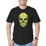 Green Skull Men's Dark Fitted T-Shirt
