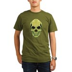 Green Skull Organic Men's Dark T-Shirt