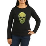 Green Skull Women's Dark Long Sleeve T-Shirt