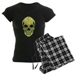 Green Skull Women's Dark Pajamas
