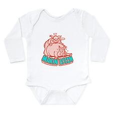 Makin Bacon Pigs Long Sleeve Infant Bodysuit