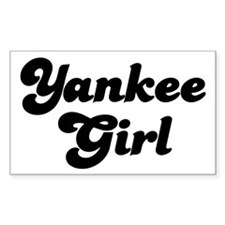 Yankee Girl (2) Rectangle Decal