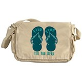 Flip Flop Till You Drop Messenger Bag