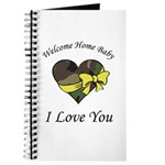 Welcome Home Camo Heart Journal