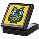 Retro Owl Keepsake Box