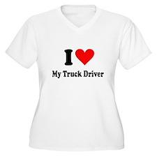 I Heart My Truck Driver T-Shirt