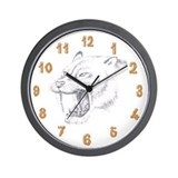 Smilodon Den Wall Clock