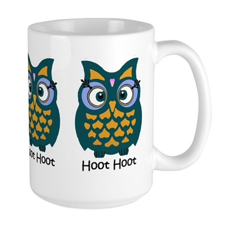 Retro Owl Large Mug