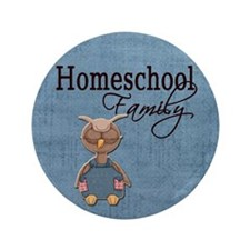 "Wise Owl Homeschool Family Blue Background 3.5"" Bu"