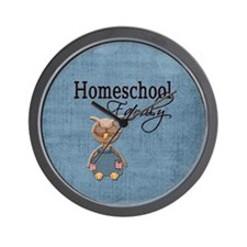 Wise Owl Homeschool Family Blue Background Wall Cl