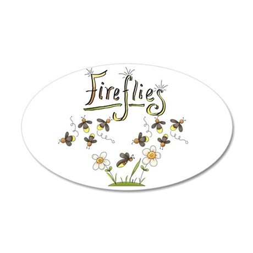 Whimsical Fireflies 38.5 x 24.5 Oval Wall Peel