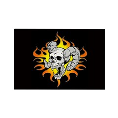 Ram Skull black Rectangle Magnet (10 pack)