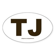 TJ Jeep Wrangler oval sticker