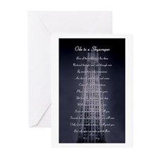 ODE TO A SKYSCRAPER Greeting Cards (Pk of 10)