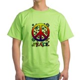 Retro Peace Sign & Flowers T-Shirt