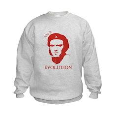 Viva Darwin Evolution! Kids Sweatshirt