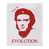 Viva Darwin Evolution! Throw Blanket