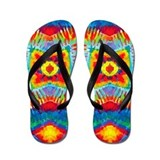 Colorful Tie-Dye Flip Flops