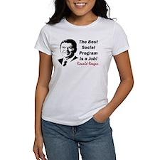 """""""Reagan: Get A Job!"""" Tee"""