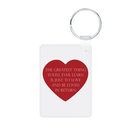 Love and be Loved Aluminum Rectangle Keychain