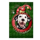Christmas - Deck the Halls - Dalmatians Postcards