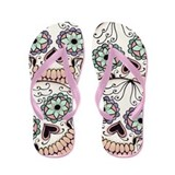 Day of the Dead Skull Flip Fl Flip Flops