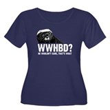 WWHBD Women's Plus Size Scoop Neck Dark T-Shirt