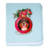 Christmas - Deck the Halls - Bernies baby blanket