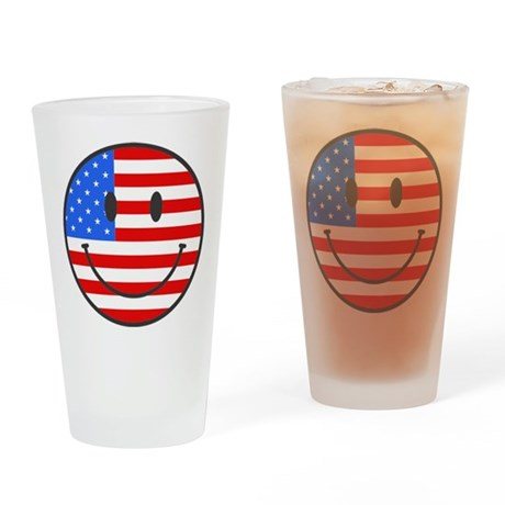 4th Of July Happy Smile Drinking Glass