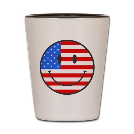 4th Of July Happy Smile Shot Glass