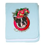 Christmas - Deck the Halls - Bostons baby blanket