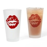 Red Lips / Lipstick Kiss Drinking Glass