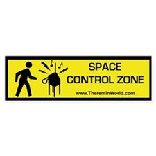 Space Control Zone Bumper Bumper Sticker
