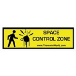 Space Control Zone Bumper Sticker
