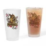 Squirrely Squirrel Lover Drinking Glass