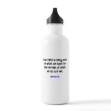 Hebrews 11:1 (Design 1) Water Bottle