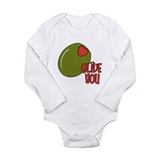 Olive you Long Sleeve Infant Bodysuit