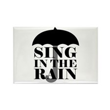 'Sing in the Rain' Rectangle Magnet (10 pack)