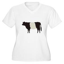 Women's Plus Size V-Neck Cow T-Shirt