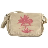 Pink Palm Beach Silhouette Messenger Bag