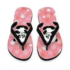 Baby panda Pink Flip Flops