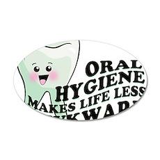Oral Hygiene 22x14 Oval Wall Peel