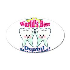 Worlds Best Dental Hygienist 38.5 x 24.5 Oval Wall