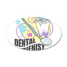 Dental Hygienist 38.5 x 24.5 Oval Wall Peel