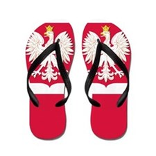 Flag of Poland White Eagle Flip Flops