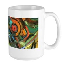 Mug with 'Dining Room' abstract art